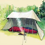 The Whelen Lean-To Tent is made of light weight 100% cotton Sunforger 10.10 oz army duck canvas. The fabric is water and fire resistant. This product is made in Duluth, MN at Frost River.