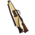 The Gun Case with Buckskin Leather is made of the highest quality ingredients including premium leather, buckskin, solid brass hardware, and sherpa to line the interior. This item is made in the USA at Frost River. This item is available in multiple lengths and scoped or unscoped.