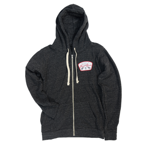 Charcoal Frost River Crossed Paddles Zip Hoodie.