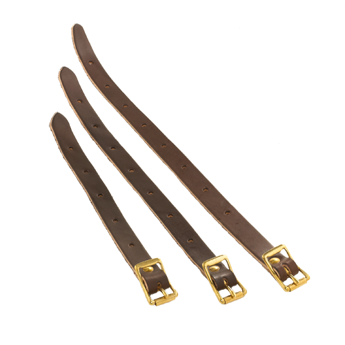 The leather shoulder strap extension is available in three lengths. All are made with premium leather and solid brass hardware to create a high quality product.  This item is made in the USA at Frost River.