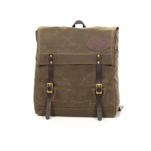 The Sojourn Pack is made of waxed canvas, premium leather, and solid brass hardware. These materials are high quality and will last a lifetime.