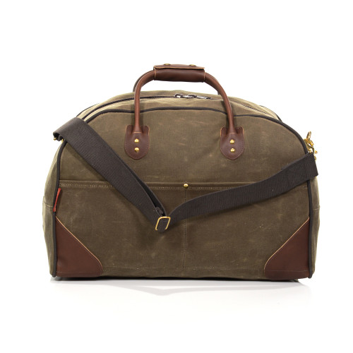 The back of the Field Tan Curtis Flight Bag has two slip pockets for papers or a tablet.