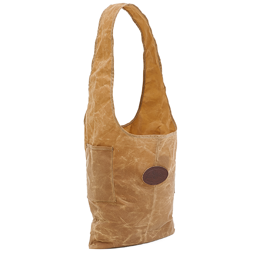 Urban Foraging Tote in Field Tan made of lightweight 10.10 oz waxed canvas.