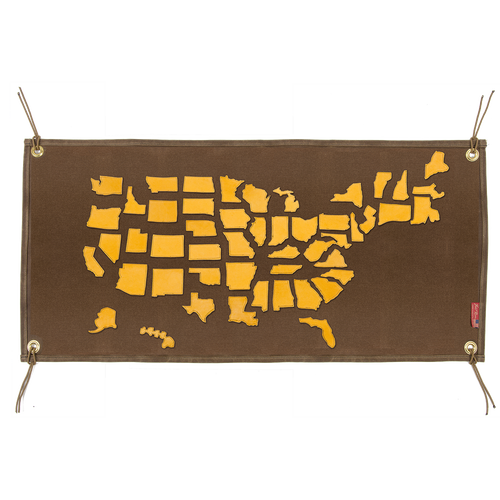 Canvas My State Patches made from premium buckskin and cut into the shape of each state!