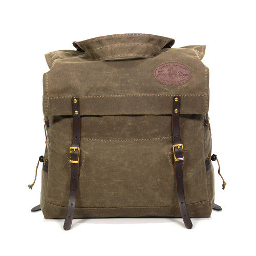 The Woodsman is a versatile pack that can double as a large day pack or a small canoe pack.