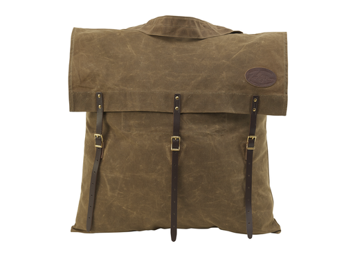 Utility Pack Large No.763 by Frost River. This pack is an envelope style pack that has three leather fastening straps, solid brass hardware, and a tumpline. This pack is made in the USA and crafted from the highest quality of materials.