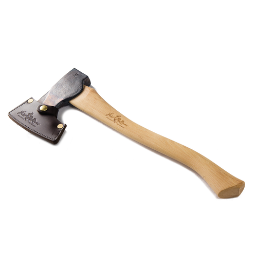 The Boreal Axe Sheath protects the axe with the best quality materials available to Frost River including premium leather and solid brass hardware.