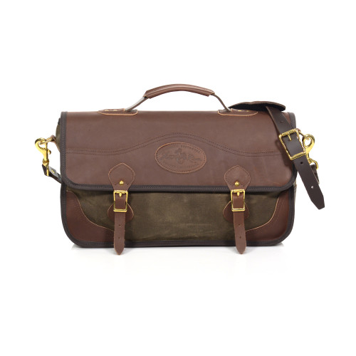 The American made Heritage Briefcase will only get better with time due to the high quality materials and craftsman ship put into every bag.