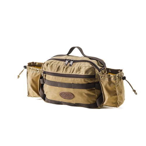 The Back Bay Lumbar Pack is great in addition to a canoe pack because it sinches abound ones waist and can hold necessities that need to be close at hand on a long portage.