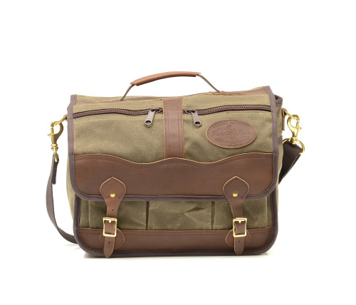 The Pilot Brief is crafted in Duluth, MN with solid brass hardware, premium leather, and waxed canvas. This briefcase has enough storage for everything you may need.