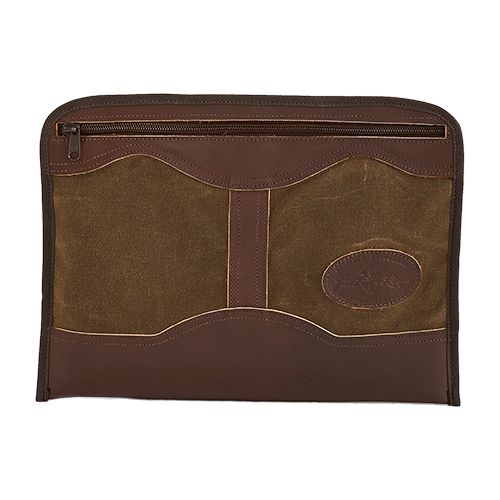 This unique Frost River product is made of premium leather, waxed canvas, and a quality zipper.
