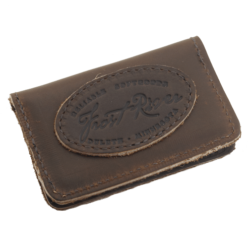 The Leather Card Holder is made of premium leather and is built to last.  It is crafted in the Duluth, MN by artisans at Frost River.
