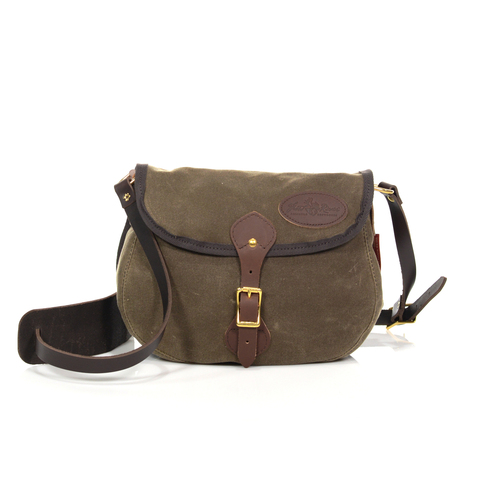 The Shell Bag by Frost River is a versatile shoulder bag that can be a functional purse, hiking bag, or hunting accessory.