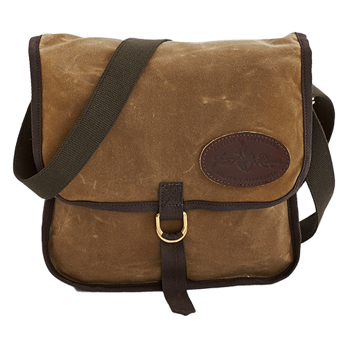 The shoulder strap can be worn cross body and the top flap is secured down with solid brass hardware to keep the contents of the bag secure.