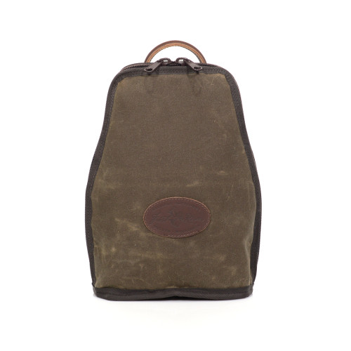 The Waxed Canvas Double Wide Bottle Tote is made in Duluth, MN out of premium materials.