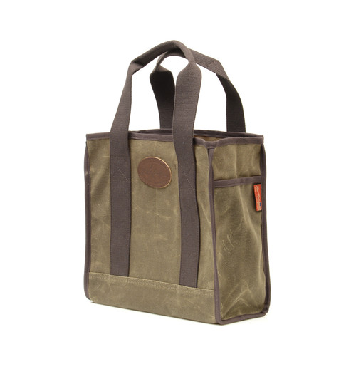 A slip pocket on the side of Lake Huron tote is perfect for a phone, snack, or keys.