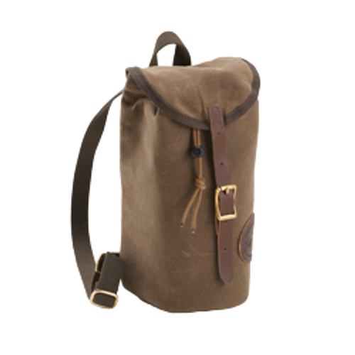 The Single Growler Pack is made of waxed canvas, premium leather, solid brass hardware, foam cushioning, and webbed cotton. This item is made in Duluth, MN at Frost River.