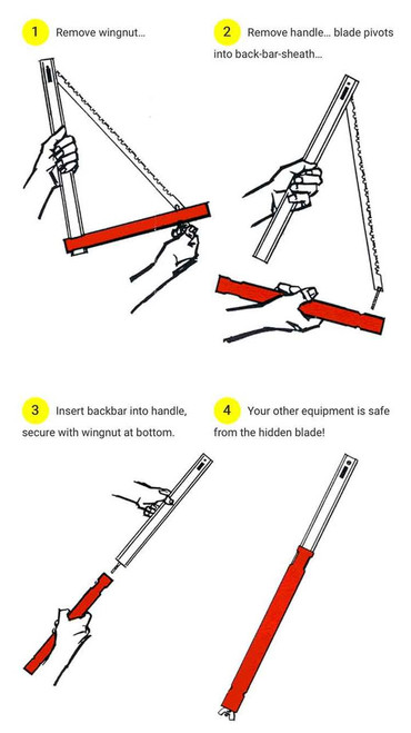 Instructions on how to assemble the Sven Saw.