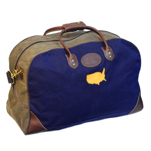 Two-tone medium flight bag by Frost River, Front. Limited Build.