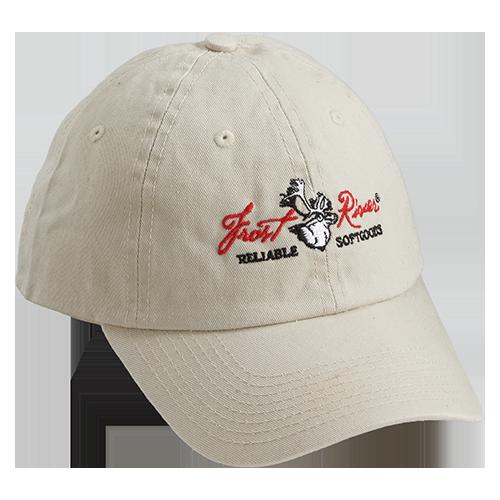 Natural, Embroidered Logo Cotton Cap