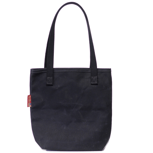 Waxed Canvas Simple Tote Heritage Black, Back