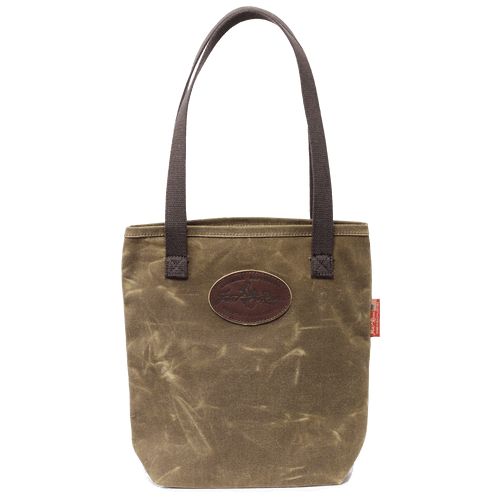 Waxed Canvas Simple Tote, Field Tan, Front