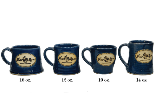 Duluth Pottery Handcrafted Mugs for Frost River, Glossy Navy Set