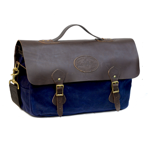 Heritage Brief, Front. Navy waxed canvas. Limited edition