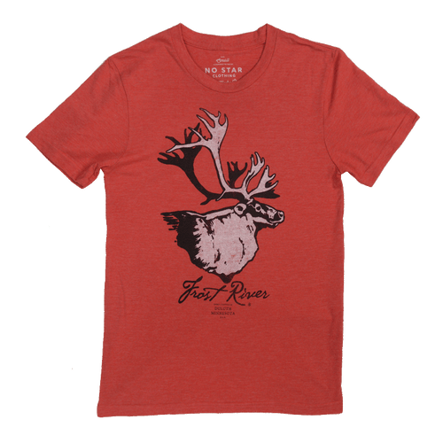 Frost River Red Henry T-shirt, Made in USA.