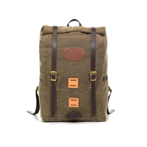 Front No.395, Arrowhead Trail Rolltop Daypack compresses and expands depending on your capacity needs.