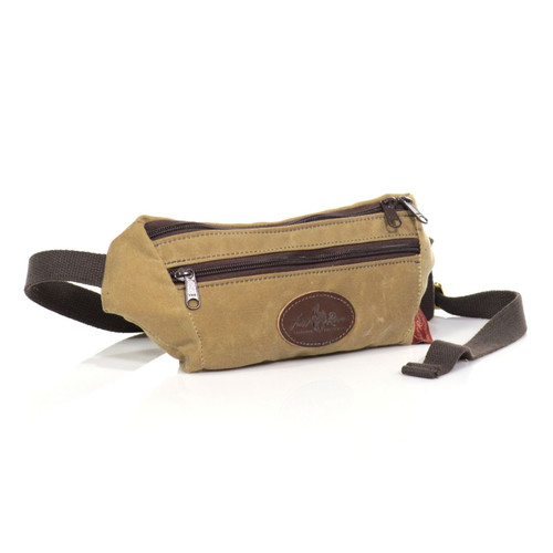The HillSider Hip Pack is a versatile waxed canvas fanny pack for the on the go. Handcrafted in Duluth, MN by Frost River.