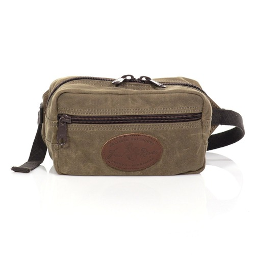 The WestEnder Waist Pack is made from our heavyweight 18oz waxed canvas.