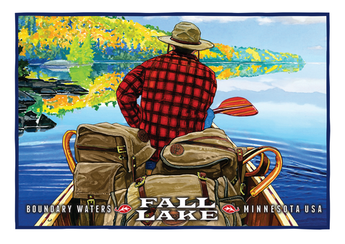 Fall Lake Postcard Front, illustrated by Duluth's Rick Kollath