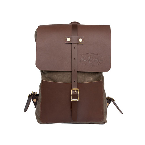 Lookout Daggett Day Pack, Premium leather lid and front pocket.
