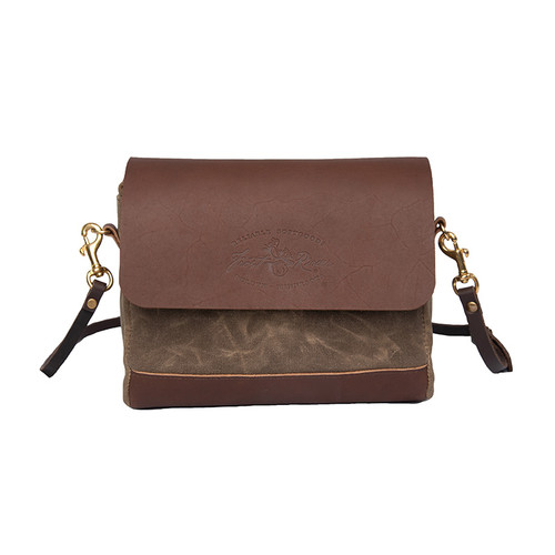 Ranger Short Shoulder Bag front, made from premium leather and durable waxed canvas.