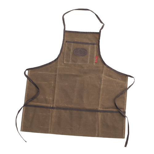 The Shop Apron is durable and ready to be put to work. The waxed canvas and quality webbed cotton straps make it strong. This product has three pockets on the bottom and a pocket on the chest to hold tools and other accessories.
