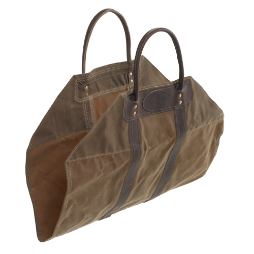 No. 615 Firewood Sling. Made in USA from waxed cotton canvas and premium leather by Frost River.