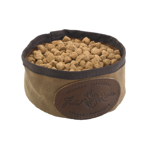 The Dog Dish by Frost River is water resistant, durable, and made of the best materials.