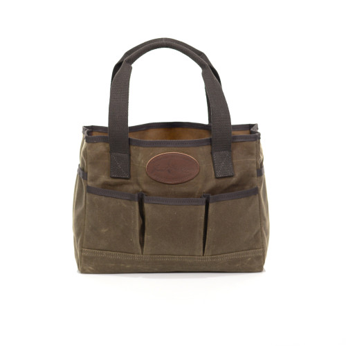 The sturdy Crosby Garden tote is water resistant and ready for anything. The many organizational features will keep order among the equipment and tools.