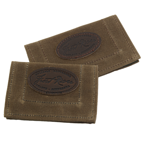 The Lure Guard is made of waxed canvas and closed with velcro. This item helps to prevent tangles from tied on tackle. It is available in two sizes to accommodate the needs of more fisherman and made in the USA.