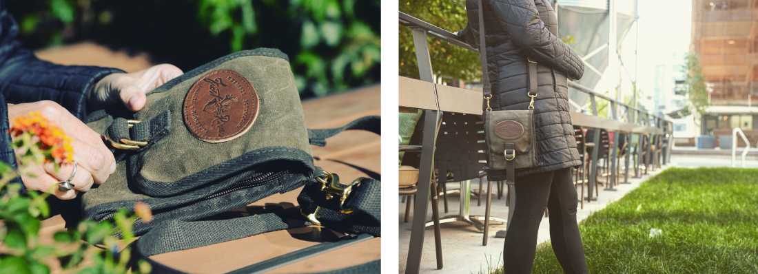 Waxed canvas wallet made for secure and compact traveling.