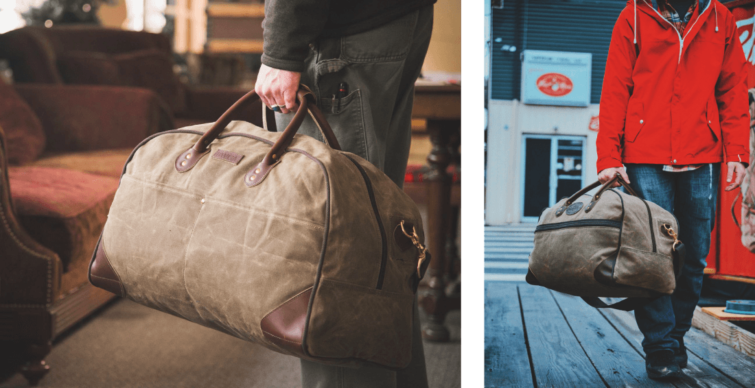 The Curtis Flight Bag offer exterior pockets, one zippered across the front and two slip pockets at the back.