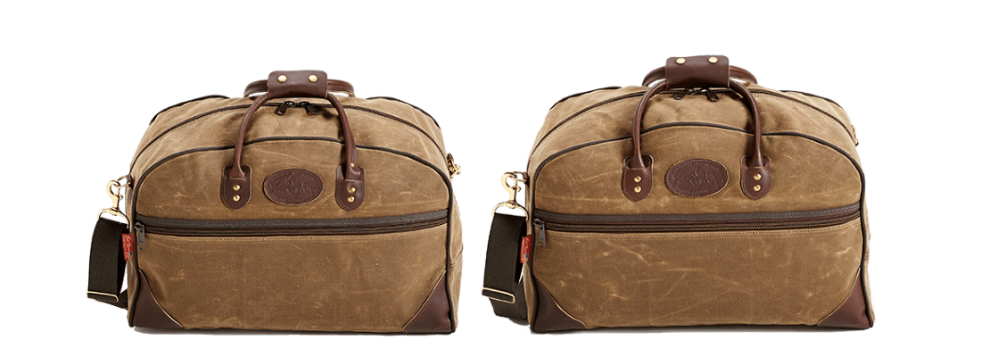 Waxed Canvas Curtis Flight Bag Collection