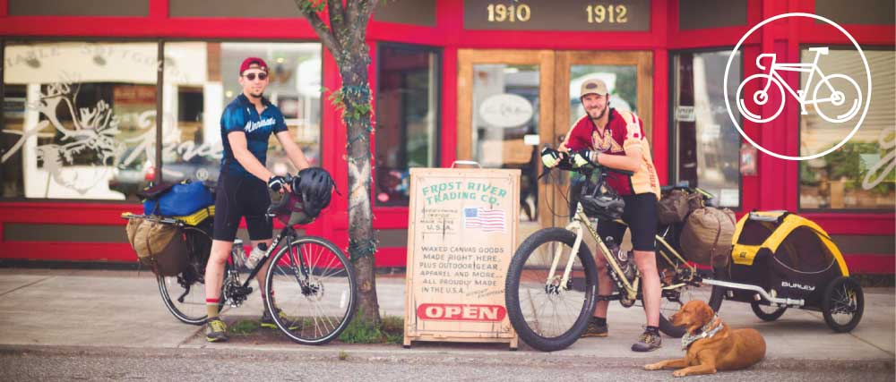 Frost River waxed canvas bike packs and gear
