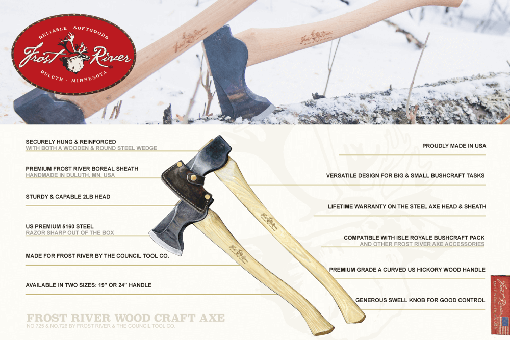 Frost River Wood Craft Axe by Council Tool, made from Premium materials and built to last.