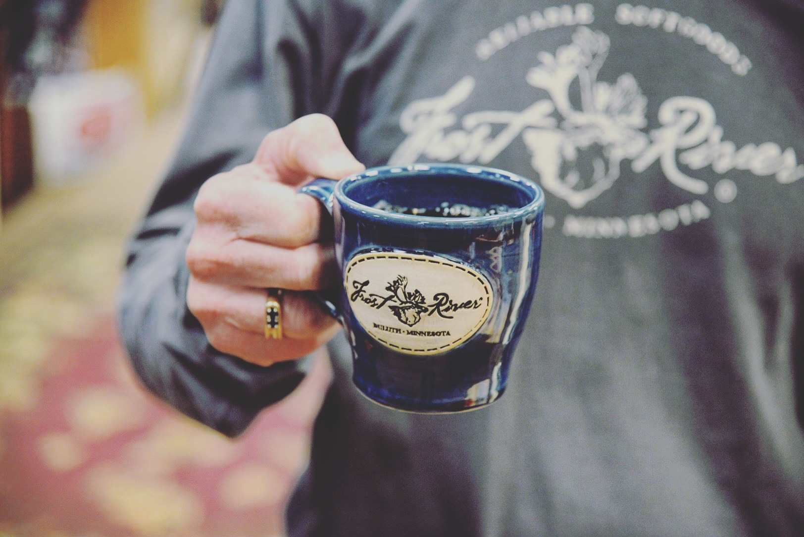 Duluth Pottery Handcrafted Mugs for Frost River, Glossy Navy