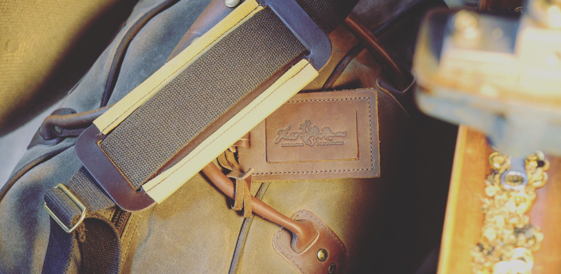 Premium Leather Luggage Tag to compliment your Frost River waxed canvas and leather luggage.