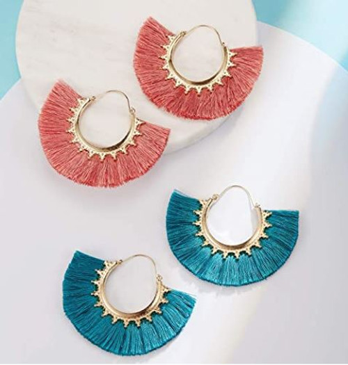 Tassel Bohemian Fringe Dangle Earrings (W)