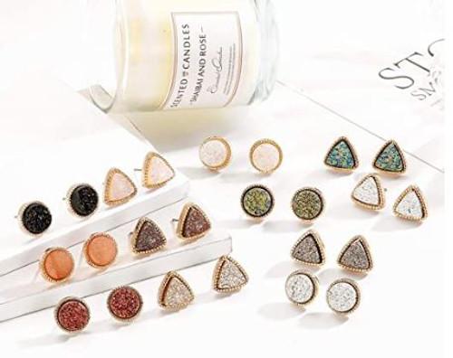 Druzy Stud Earrings (W)
