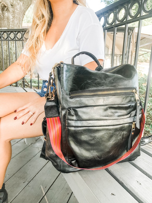 The Audrey Vegan Leather Backpack Purse